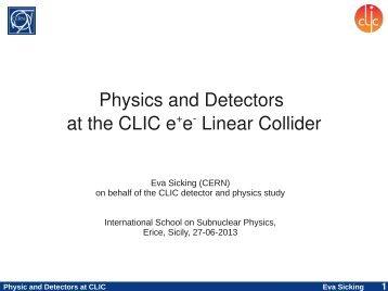 Physics and Detectors at the CLIC e+e Linear Collider