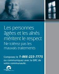 Les personnes âgées et les aînés méritent le respect