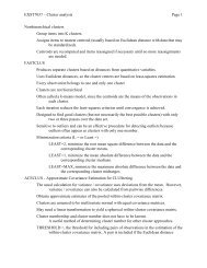 EXST7037 – Cluster analysis Page 1 Nonhierarchical clusters ...