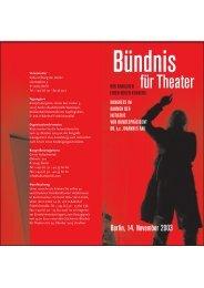 Bündnis für Theater Hier finden Sie das Programm im pdf-Format