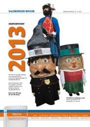 Anzeigen-Tarif 2013 zum download - Salzburger Nachrichten