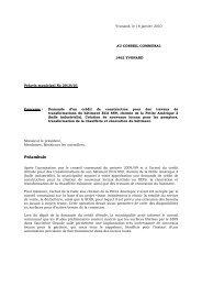 Préavis 2010/01 Demande d'un crédit de construction ... - Yvonand