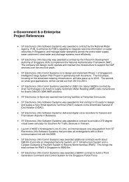 Project References : e-Government & e-Enterprise - ST Electronics