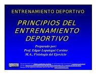 Descripción de los Principios del Entrenamiento - Saludmed