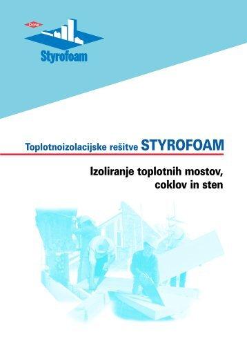 Brošura Styrofoam izoliranje toplotnih mostov, coklov in sten - Ravago