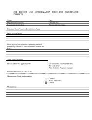 job request and authorization form for maintenance projects - UCI ...