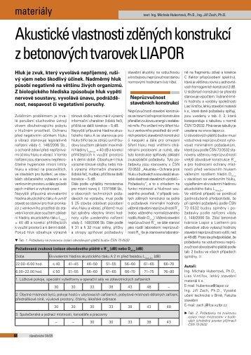 Stavebnictví - Liapor