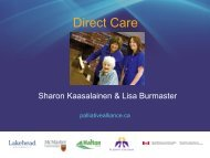 Direct Care - Quality Palliative Care in Long Term Care