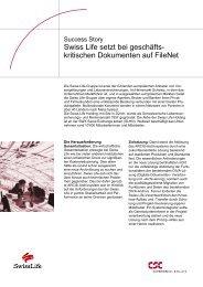Swiss Life setzt bei geschäfts- kritischen Dokumenten auf ... - CSC