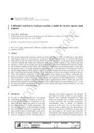 1 California's reaction to Caulerpa taxifolia - Aquatic Nuisance ...
