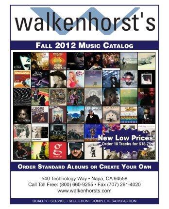 Walkenhorst's Custom CD Songs