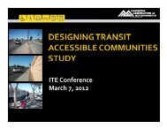 Session 2B – Designing Transit Accessible Communities Study - azite