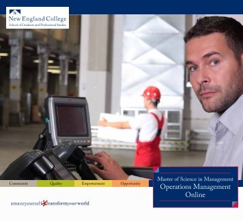 Operations Management Online - New England College