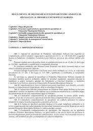 REGULAMENTUL DE ORGANIZARE ŞI FUNCłIONARE PENTRU ...