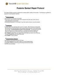 Posterior Bankart Repair Protocol - Vanderbilt School of Medicine