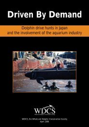 Driven By Demand - Whale and Dolphin Conservation Society