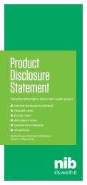 Product Disclosure Statement - nib
