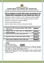 project proposal format - Vision Group on Science and Technology