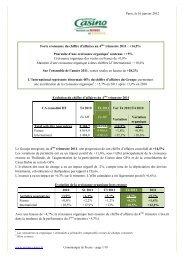 chiffre d'affaires au 4ème trimestre 2011.pdf - Groupe Casino