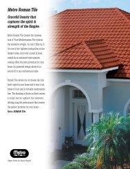Metro Roman Tile - Metro Roof Products