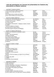Liste des participants aux réunions de présentation du Cadastre des ...