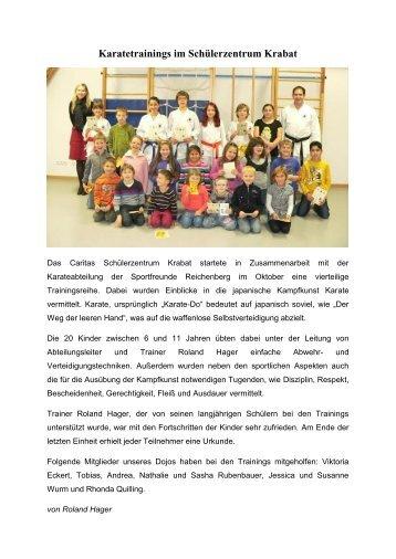 Karatetrainings im Schülerzentrum Krabat