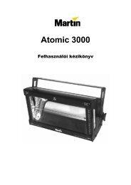 Atomic 3000 felhasználói kézikönyv