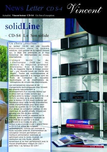 Newsletter Vincent CD S-4
