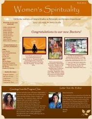 Fall 2012 WSE Newsletter - California Institute of Integral Studies