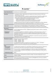 Fiche info financière R-Junior - Raiffeisen