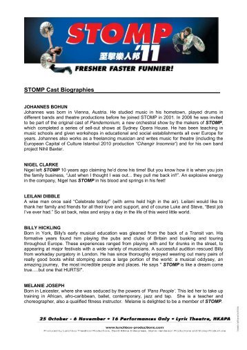 Download Bio of Casts - Propublicity.com