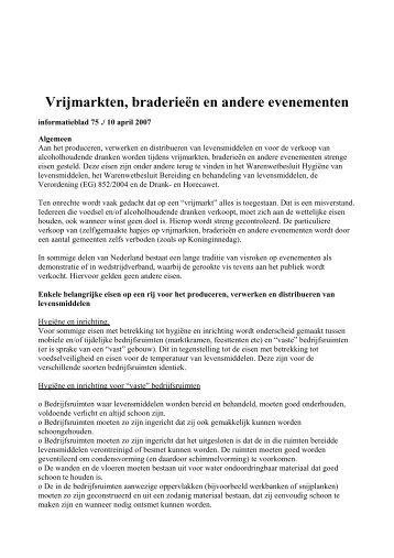 Regels Voedsel- en Warenautoriteit (pdf) - Westergasfabriek