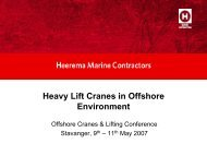 Heavy Lift Cranes in Offshore Environment
