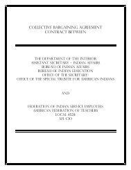 collective bargaining agreement contract between - Bureau of Indian ...