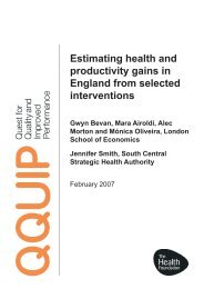 Estimating health and productivity gains in England from
