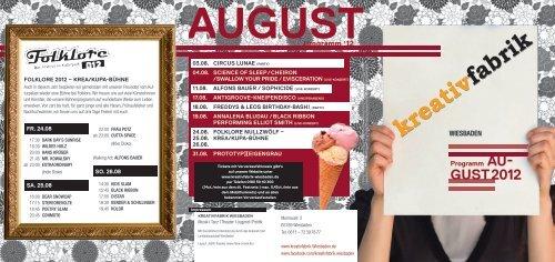 August 2012 - Kreativfabrik Wiesbaden