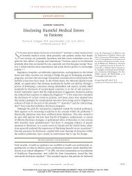 Disclosing Harmful Medical Errors to Patients - NorthShore ...