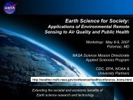 May 2007 Air Quality and Public Health Workshop Report - Global ...