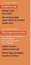 Vorträge Berlin - Familiennetzwerk