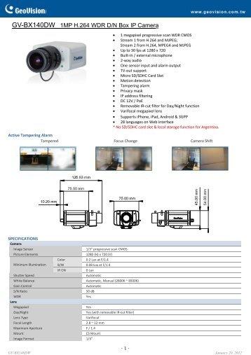 GV-BX140DW - Remote-security.com