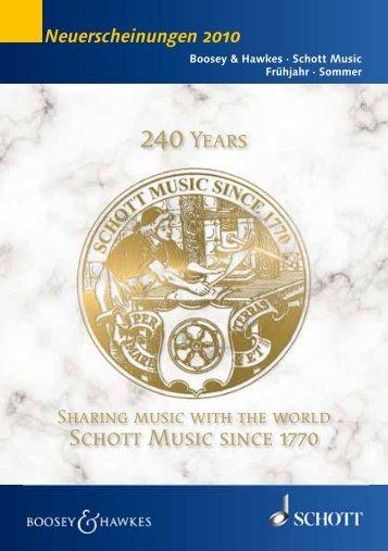 Schott Music since 1770 240years