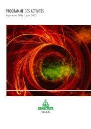 Téléchargez la brochure 2011 - Pro Senectute Valais