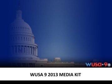 WUSA 9 2013 MEDIA KIT - WUSA9.com