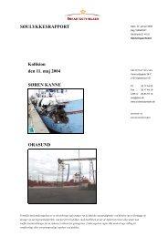 SØREN KANNE og ORASUND - Søfartsstyrelsen