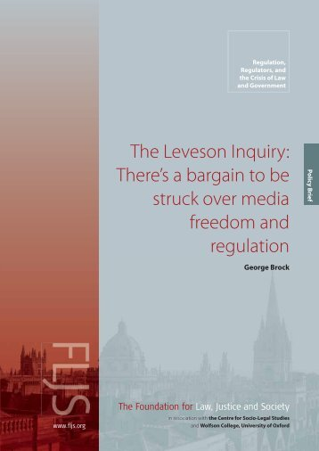The Leveson Inquiry: There's a bargain to be - Foundation for Law ...