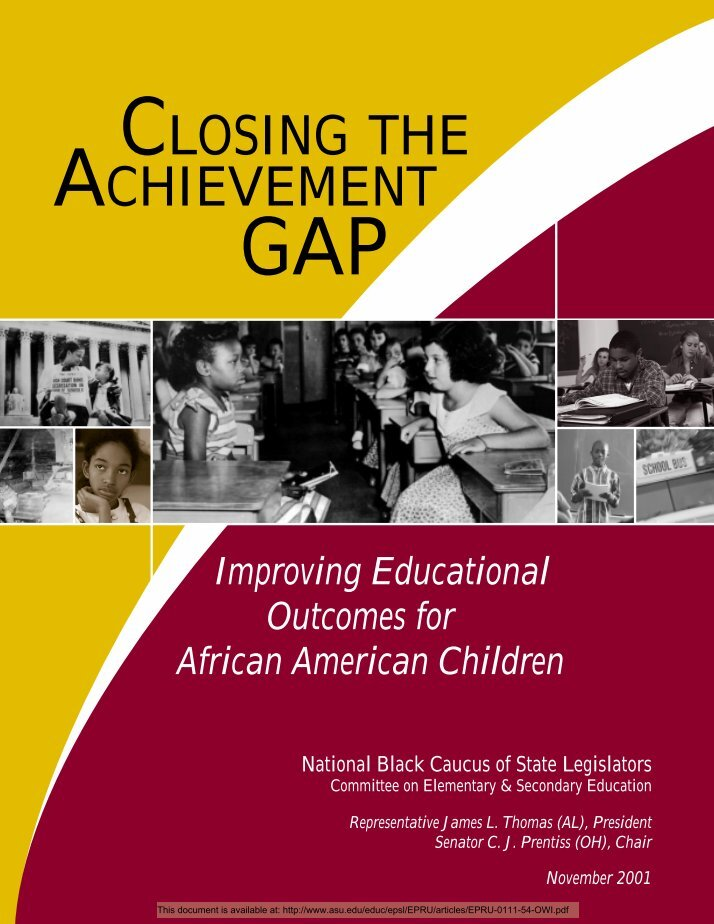 the african american achievement gap Despite dramatic upticks in overall student achievement, the racial gap between white and minority high especially for african-american and best of msnbc.