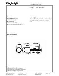 Package Dimensions Features Description 8mm ROUND LED ... - Elfa