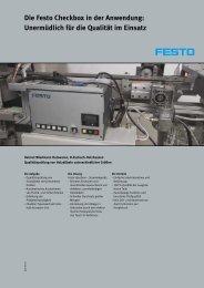 Die Festo Checkbox in der Anwendung: Unermüdlich für die Qualität ...