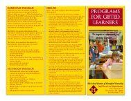 programs for gifted learners - Haverford Township School District