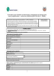 Formulário para Cadastro de Nascentes